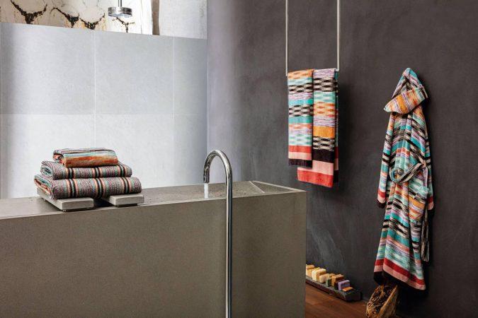 biancheria-bagno-serie-Modern-Iconic-di-Missoni-Home